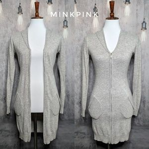 MINKPINK cashmere-blend hooded tunic sweater